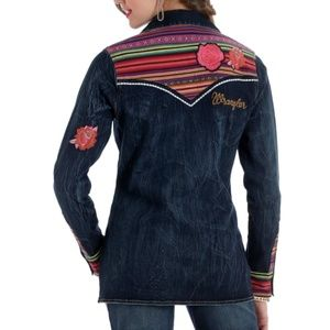 Wrangler Rodeo Quincy Western Shirt M